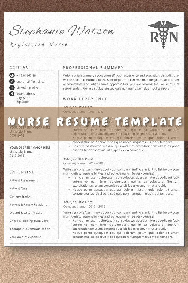 009 Stirring Nurse Resume Template Word Highest Clarity  Cv Free Download RnFull