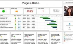 009 Stirring Project Management Statu Report Template Excel Image  Gantt 2016 Progres