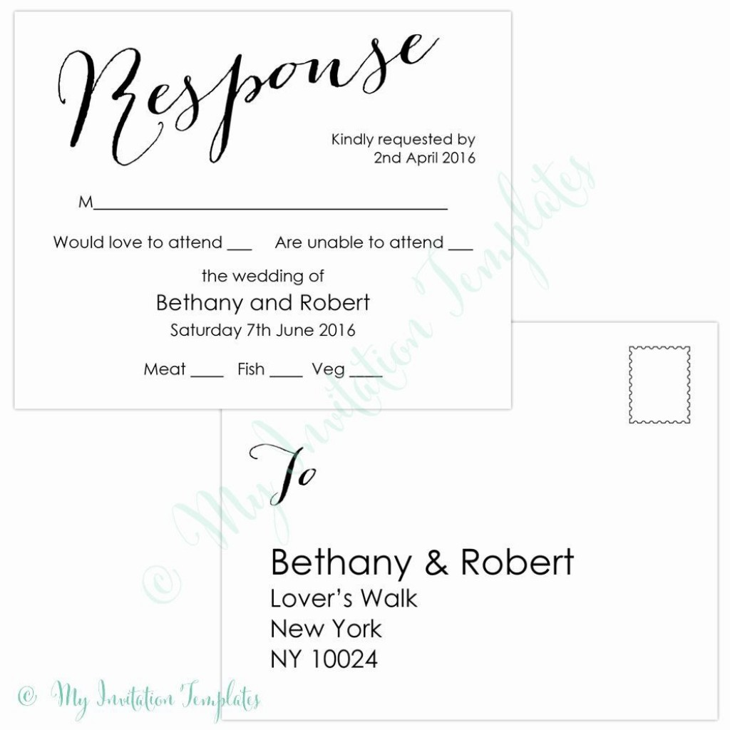009 Stirring Rsvp Postcard Template For Word Picture Large