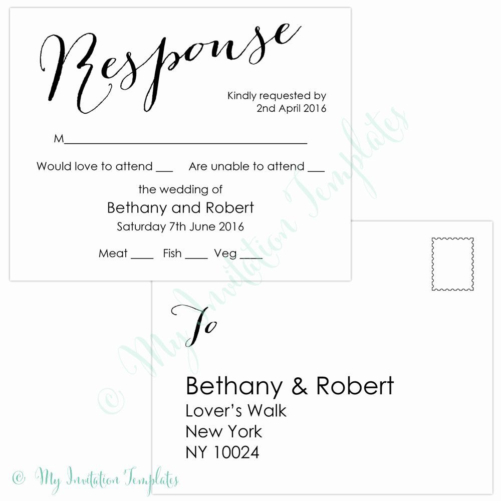 009 Stirring Rsvp Postcard Template For Word Picture Full