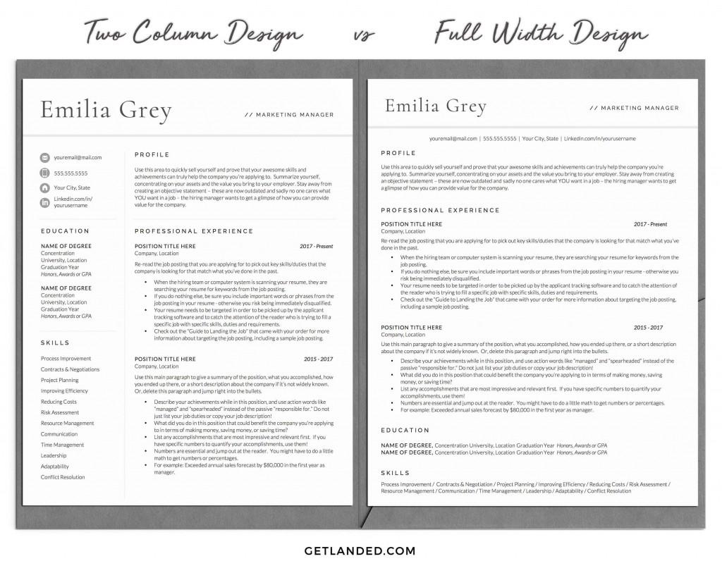009 Stirring Two Column Resume Template Word High Definition  Cv Free MicrosoftLarge
