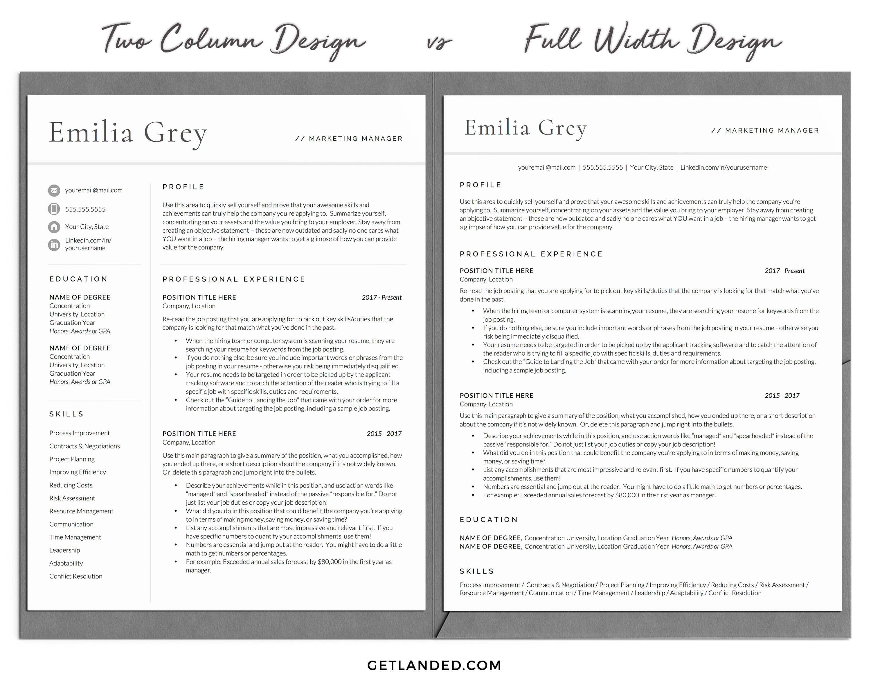 009 Stirring Two Column Resume Template Word High Definition  Cv Free MicrosoftFull