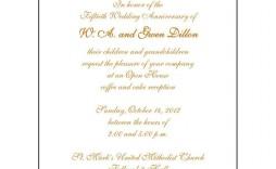 009 Striking 50th Wedding Anniversary Invitation Template Microsoft Word Design  Free