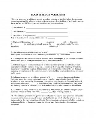 009 Striking Apartment Lease Agreement Form Texa High Definition 320