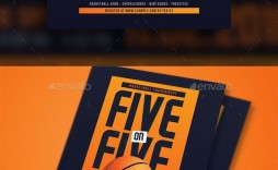 009 Striking Basketball Tournament Flyer Template Highest Quality  Word Free