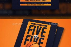009 Striking Basketball Tournament Flyer Template Highest Quality  3 On Free