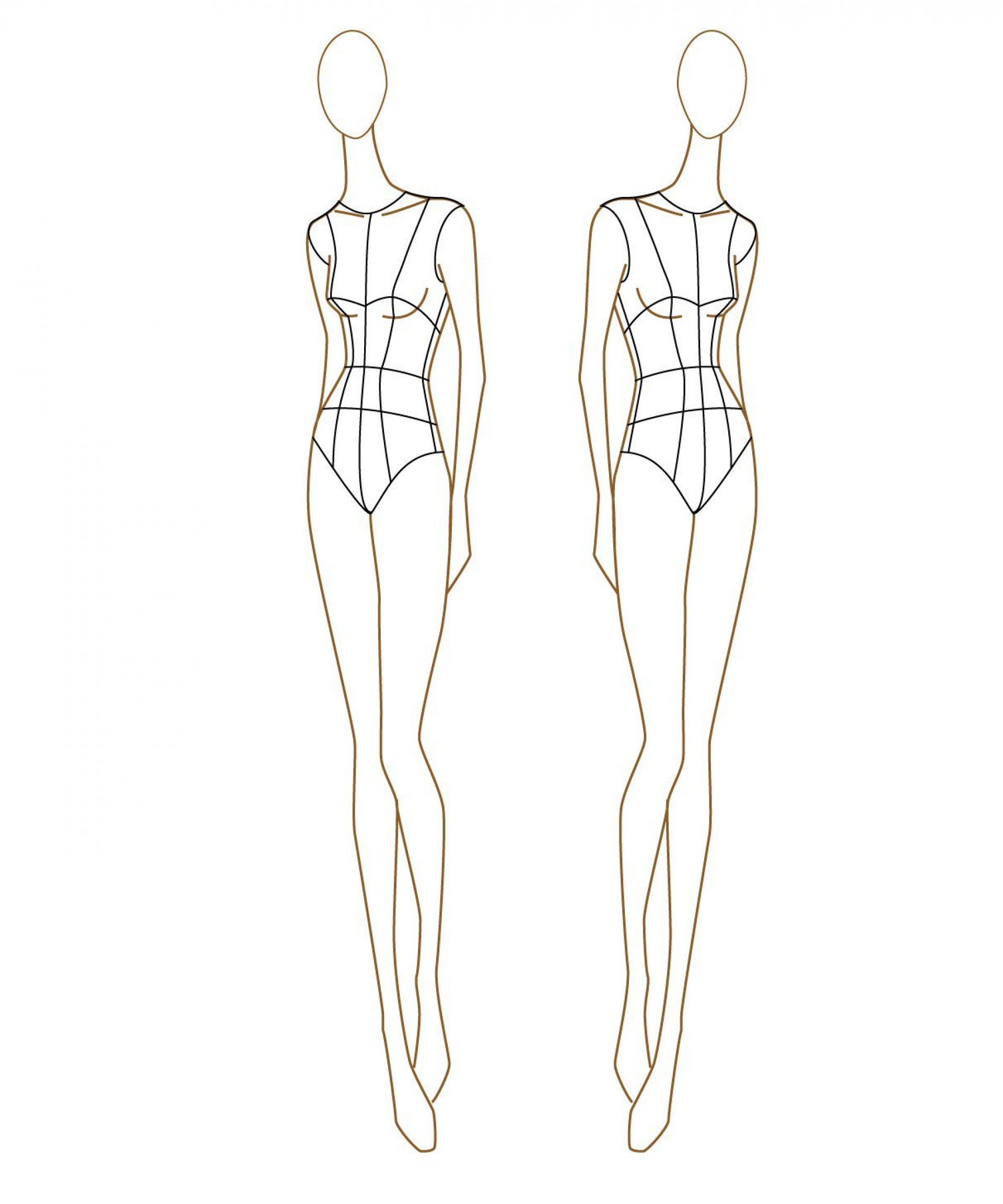 Body Template For Fashion Design Addictionary