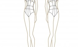 009 Striking Body Template For Fashion Design Example  Female Male Human