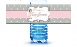 009 Striking Diy Water Bottle Label Template Free Image