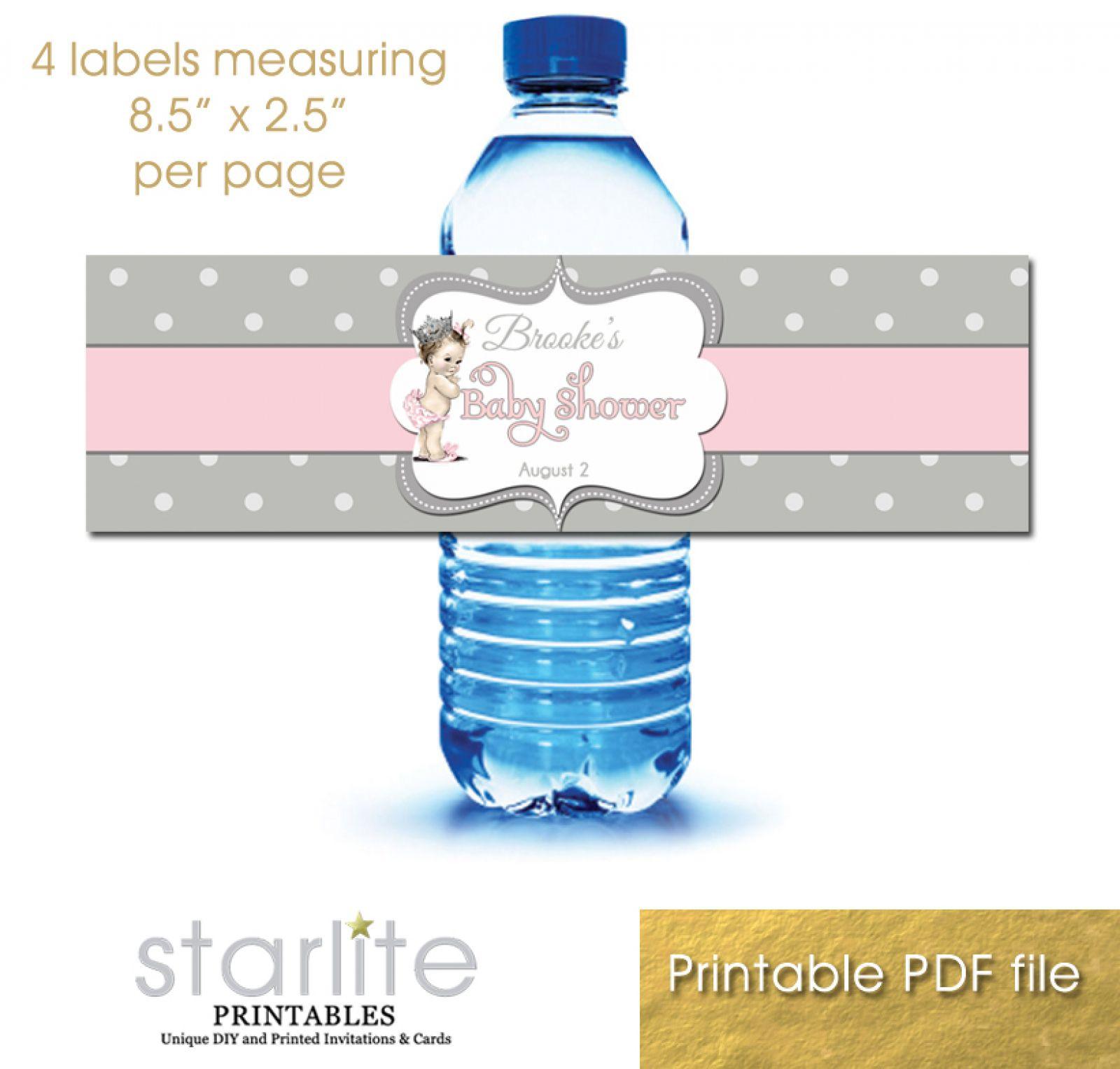 009 Striking Diy Water Bottle Label Template Free Image Full