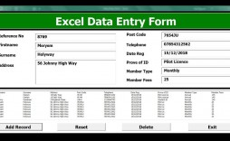 009 Striking Excel Data Entry Form Template Picture  Example Download Free