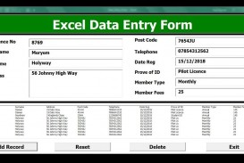 009 Striking Excel Data Entry Form Template Picture  Free Download Example Pdf