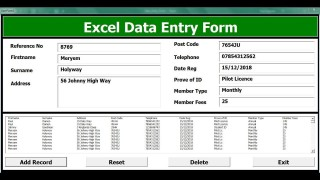 009 Striking Excel Data Entry Form Template Picture  Free Download Example Pdf320