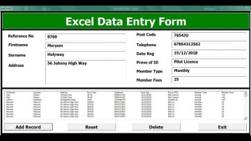009 Striking Excel Data Entry Form Template Picture  Free Download Example Pdf360