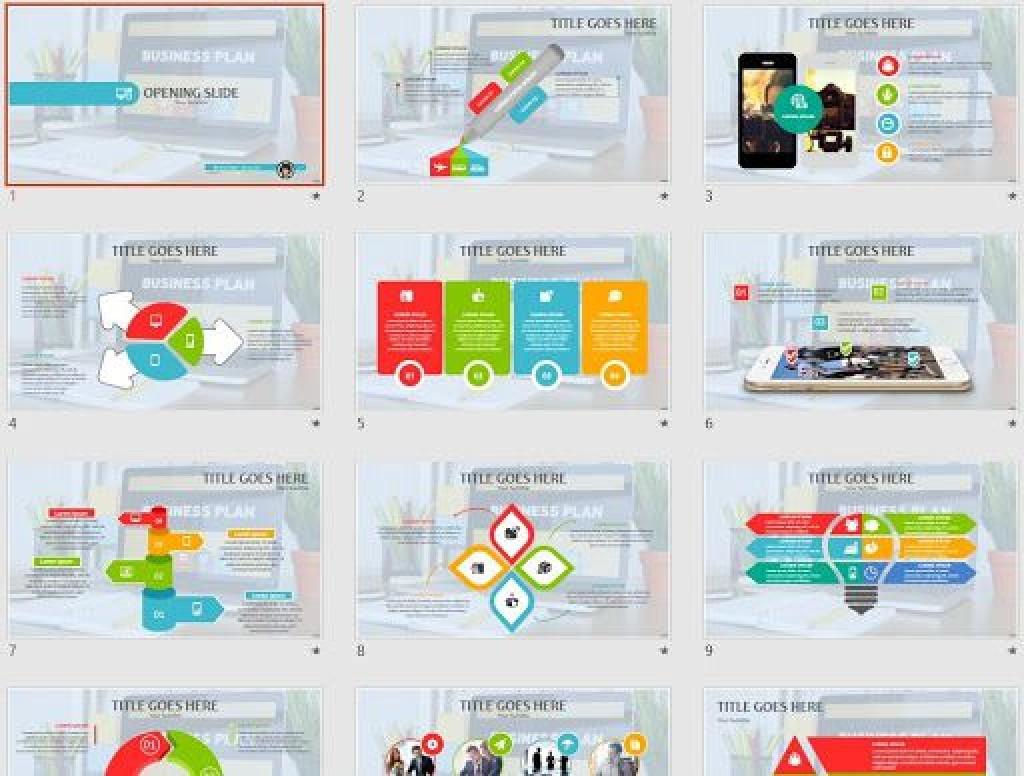 009 Striking Free Busines Plan Powerpoint Template Download High Definition  Modern UltimateLarge