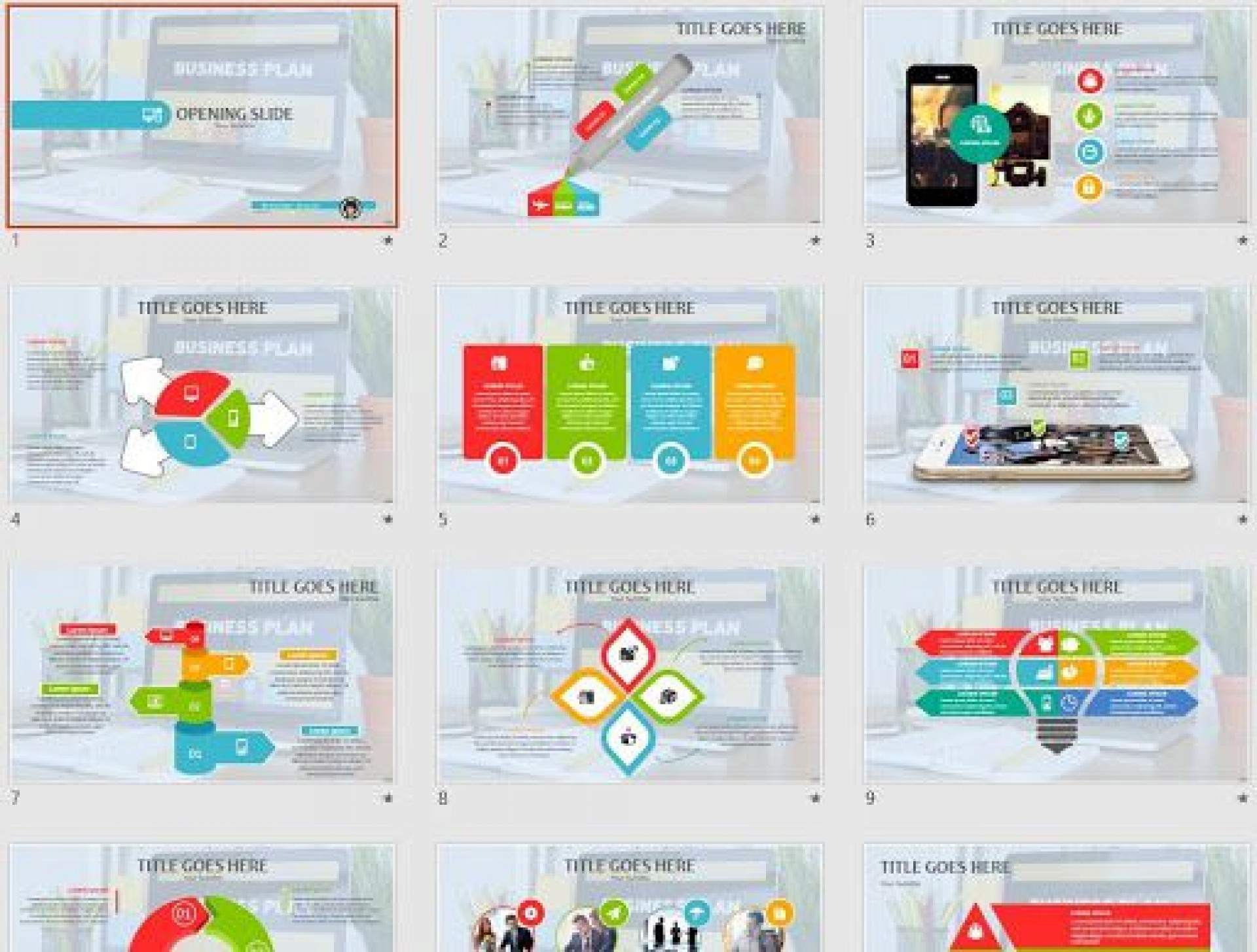 009 Striking Free Busines Plan Powerpoint Template Download High Definition  Modern Ultimate1920