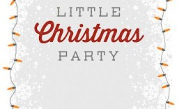009 Striking Free Holiday Invitation Template Example  Online Party Christma