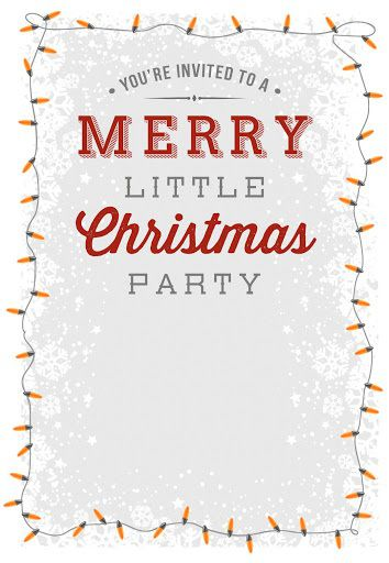 009 Striking Free Holiday Invitation Template Example  Online Party ChristmaFull