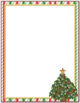 009 Striking Free Holiday Stationery Template For Word High Definition 320