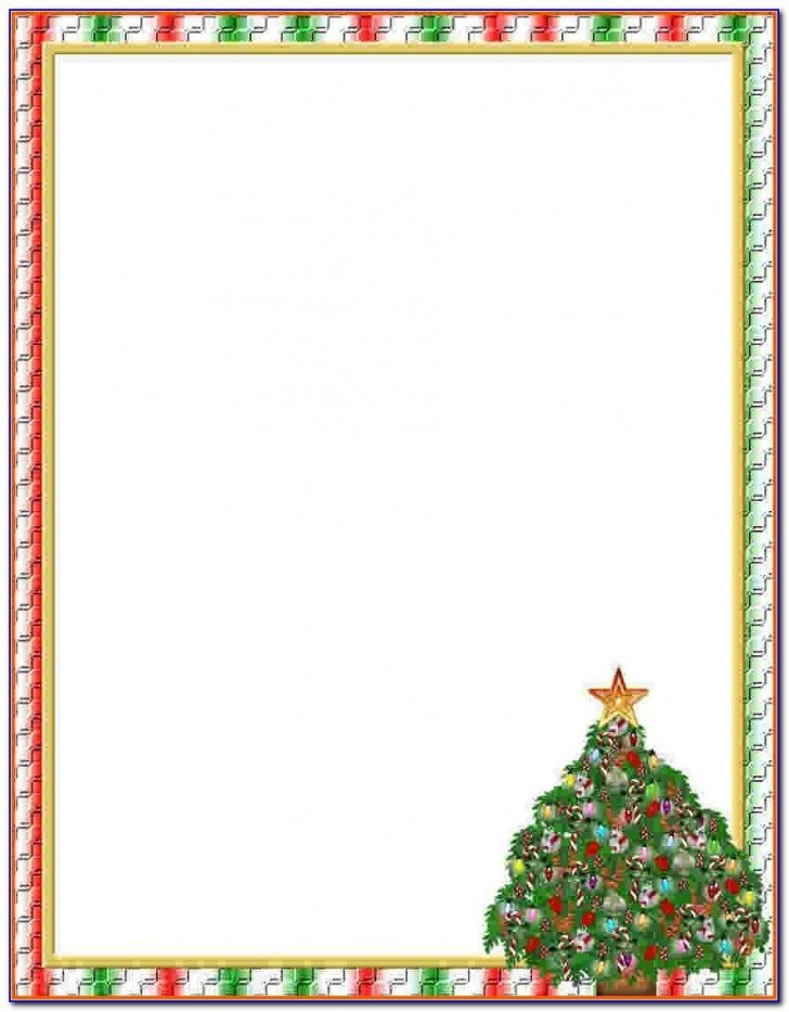 009 Striking Free Holiday Stationery Template For Word High Definition 728