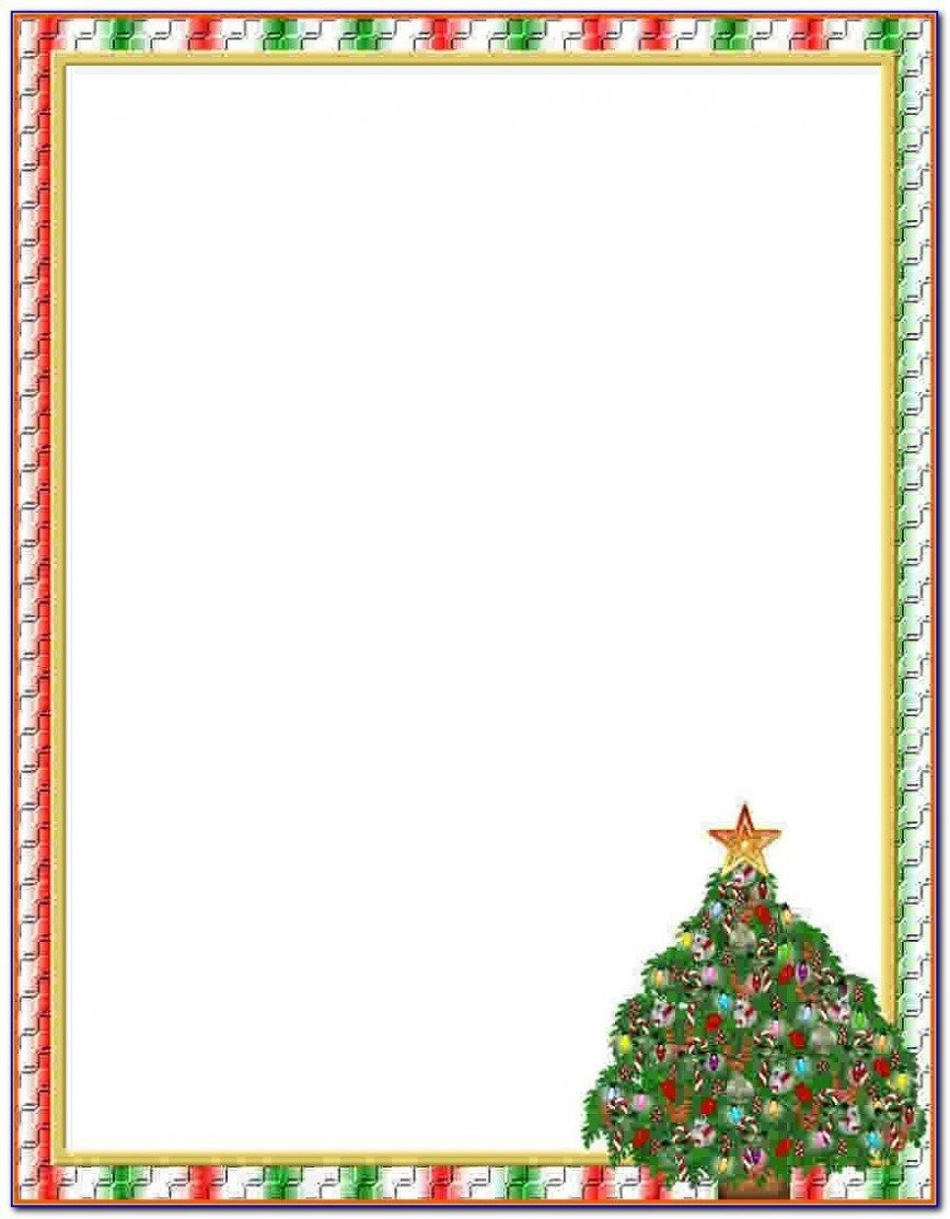 009 Striking Free Holiday Stationery Template For Word High Definition 868