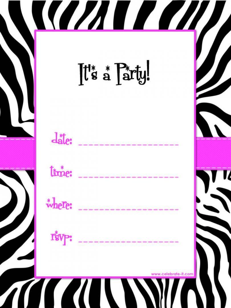 009 Striking Free Online Printable Birthday Invitation Template Inspiration  Templates Card MakerFull