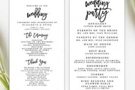 009 Striking Free Template For Wedding Ceremony Program Highest Quality