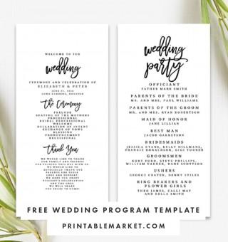 009 Striking Free Template For Wedding Ceremony Program Highest Quality 320