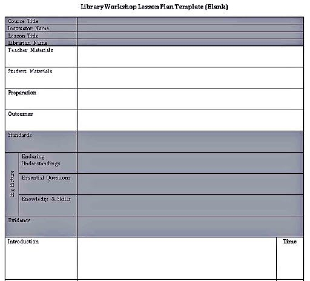 009 Striking Lesson Plan Format Word Doc Example  Outline TemplateLarge