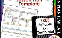009 Striking Lesson Plan Template Free Highest Quality  Weekly Printable Editable Preschool Format