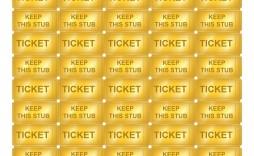 009 Striking Microsoft Word Raffle Ticket Template Design  Free Office