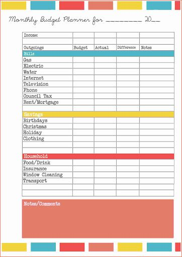 009 Striking Monthly Budget Spreadsheet Template Free Highest Clarity  PersonalFull
