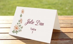 009 Striking Name Place Card Template For Wedding Sample  Free Word