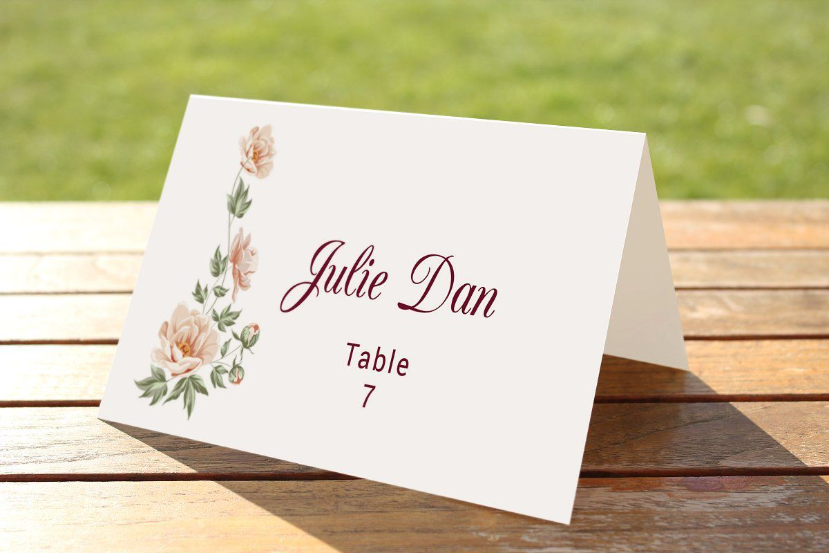 009 Striking Name Place Card Template For Wedding Sample  Free WordFull