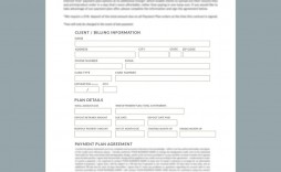 009 Striking Payment Plan Agreement Template Picture  For Medical Office Dental