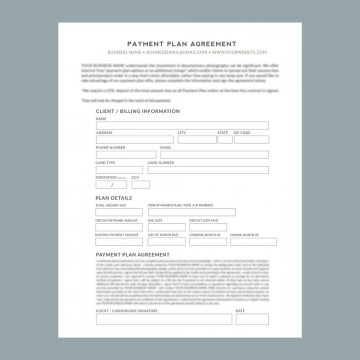 009 Striking Payment Plan Agreement Template Picture  Free360