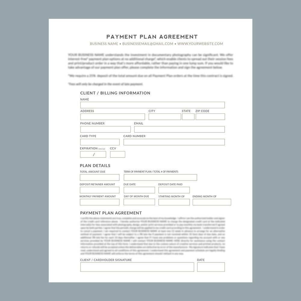 009 Striking Payment Plan Agreement Template Picture  FreeFull