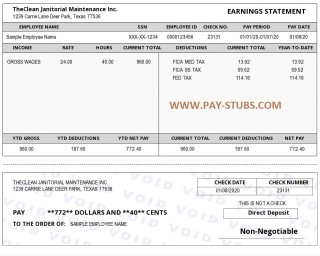 009 Striking Payroll Check Stub Template Highest Quality  Pay Free Canada 1099 Employee320