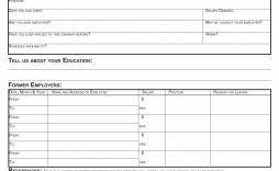 009 Striking Printable Job Application Template Concept  Free Employment Pdf