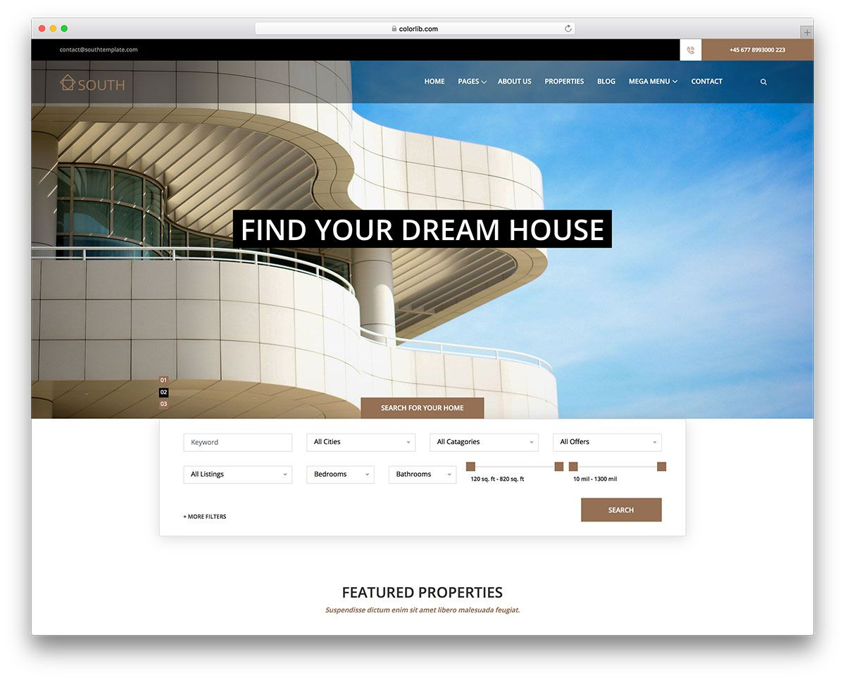 009 Striking Real Estate Website Template Highest Quality  Templates Bootstrap Free Html5 Best WordpresFull
