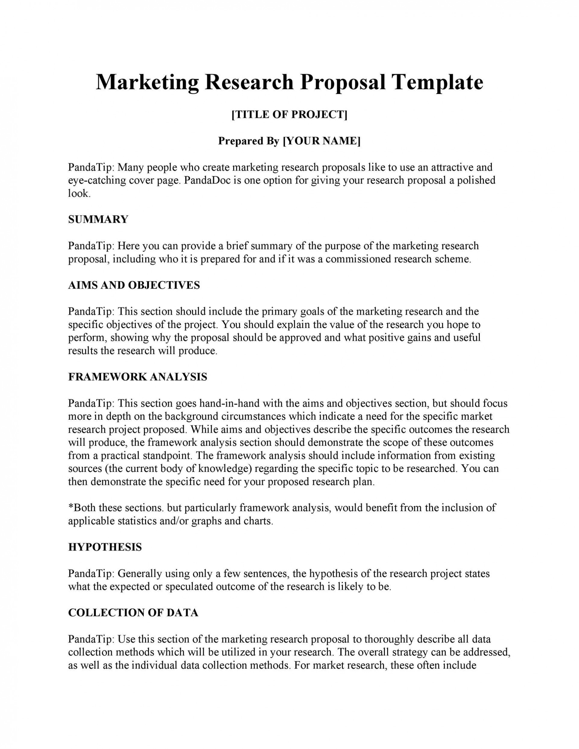 009 Striking Research Project Proposal Template Word Inspiration 1920