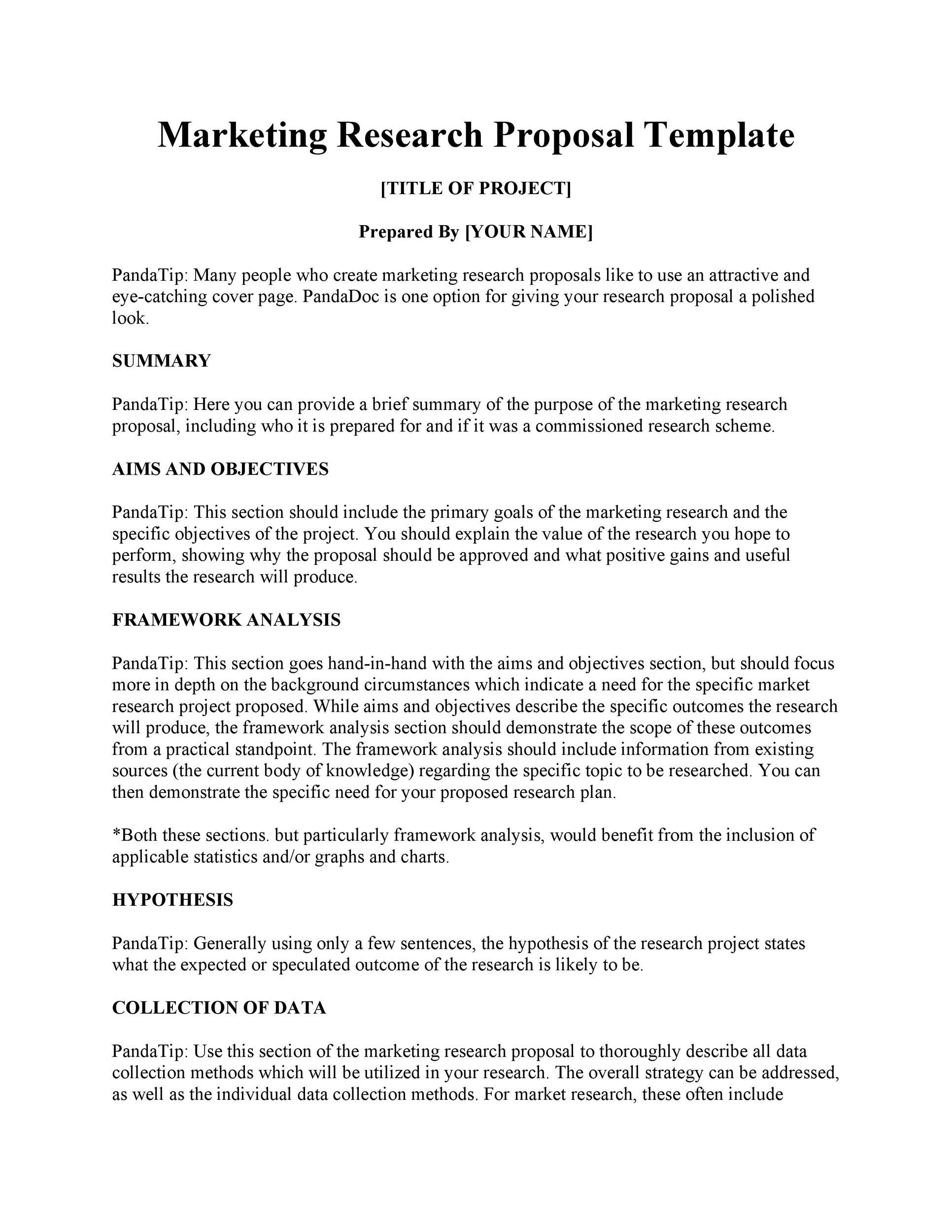 009 Striking Research Project Proposal Template Word Inspiration Full