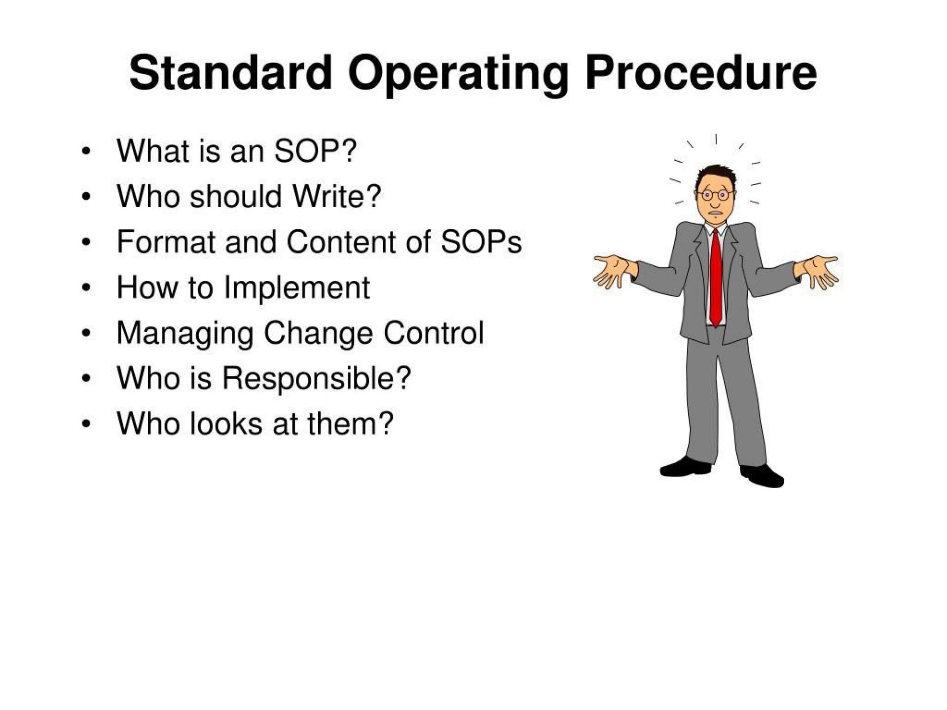 009 Striking Standard Operating Procedure Template Free Sample  Microsoft Word Download 20161920