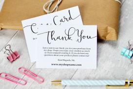 009 Striking Thank You Note Card Template Word Concept