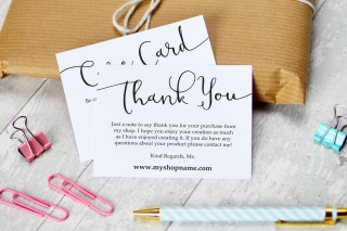 009 Striking Thank You Note Card Template Word Concept 320