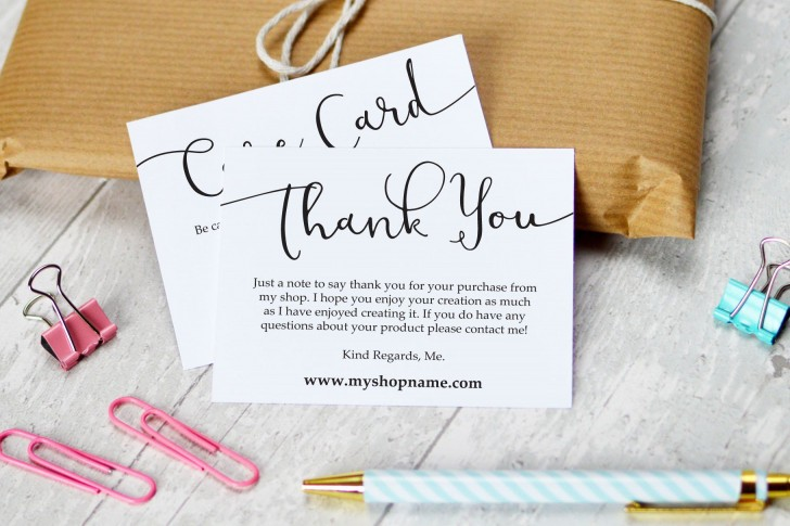 009 Striking Thank You Note Card Template Word Concept 728