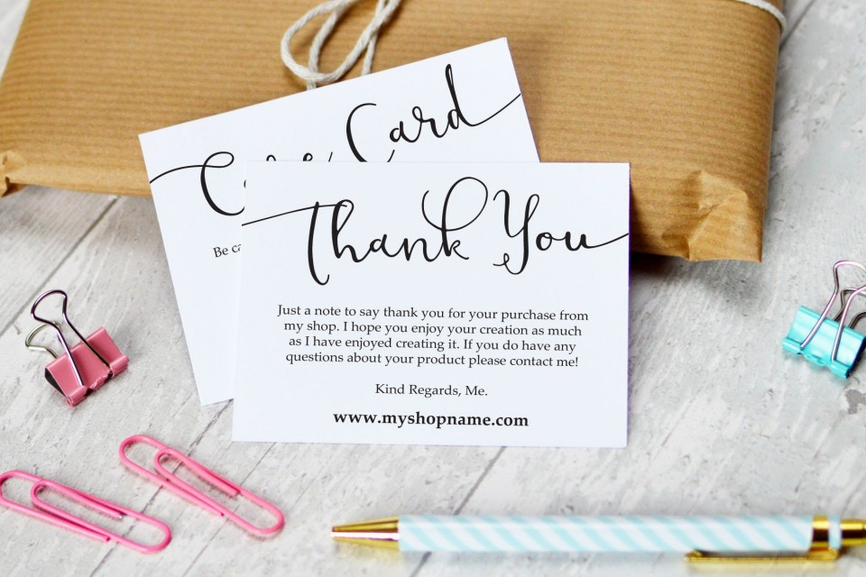 009 Striking Thank You Note Card Template Word Concept 960