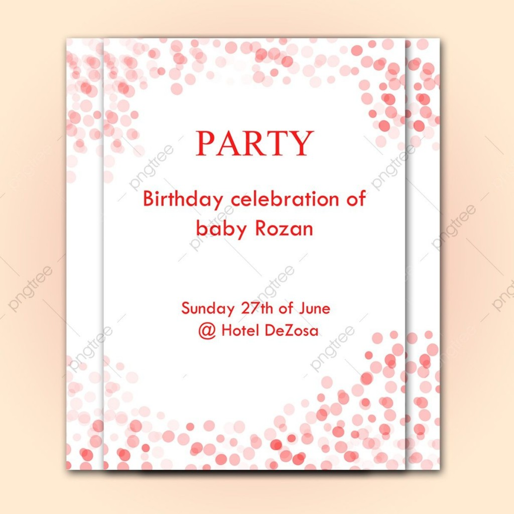009 Stunning Birthday Party Invitation Flyer Template Free Download High Resolution Large