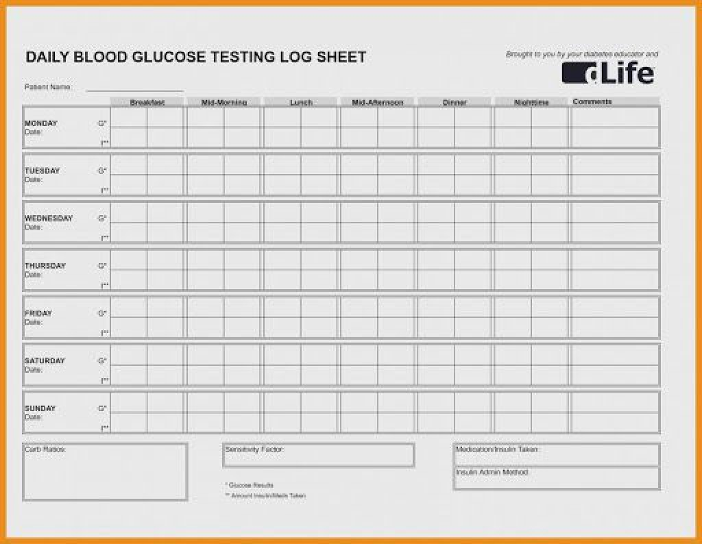 009 Stunning Blood Glucose Tracker Template High Resolution  Spreadsheet TrackingLarge