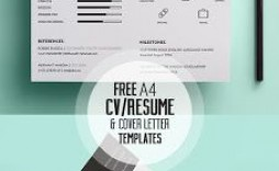009 Stunning Cv Design Photoshop Template Free Idea  Creative Resume Psd Download